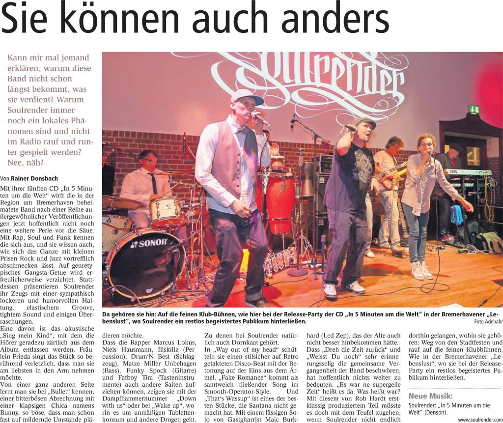 Nordseezeitung 07.12.2013